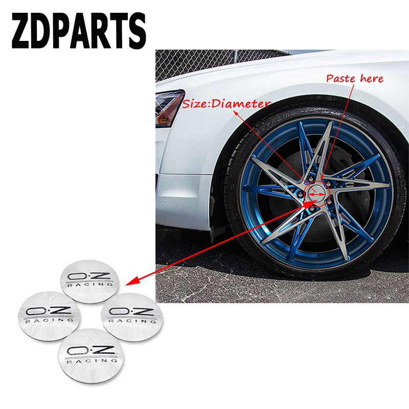 ZDPARTS 4PC Car Styling O.Z Tire Wheel Hub Cap Cover Stickers For Toyota Corolla Avensis Rav4 c-hr Volkswagen VW Passat B6 B5