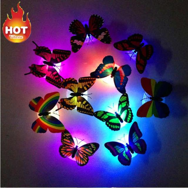 Colorful Changing Butterfly LED Night Light Lamp