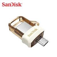 SanDisk SDDD3 extrema alta velocidad de 150 m/s dual OTG USB flash drive 64 GB 128 GB 16 GB 32 GB pen drive USB3.0 genuino pendrive