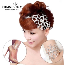 HIMSTORY Elegant Colorful Rhinestone Hair Accessories Armlet  Bracelet New Wedding Party Jewelry Accessory