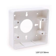 2pcs General Type 120 Large Wiring Bottom Box Deep 38mm PVC Wall Mount Switch Junction Box 120*115*38mm