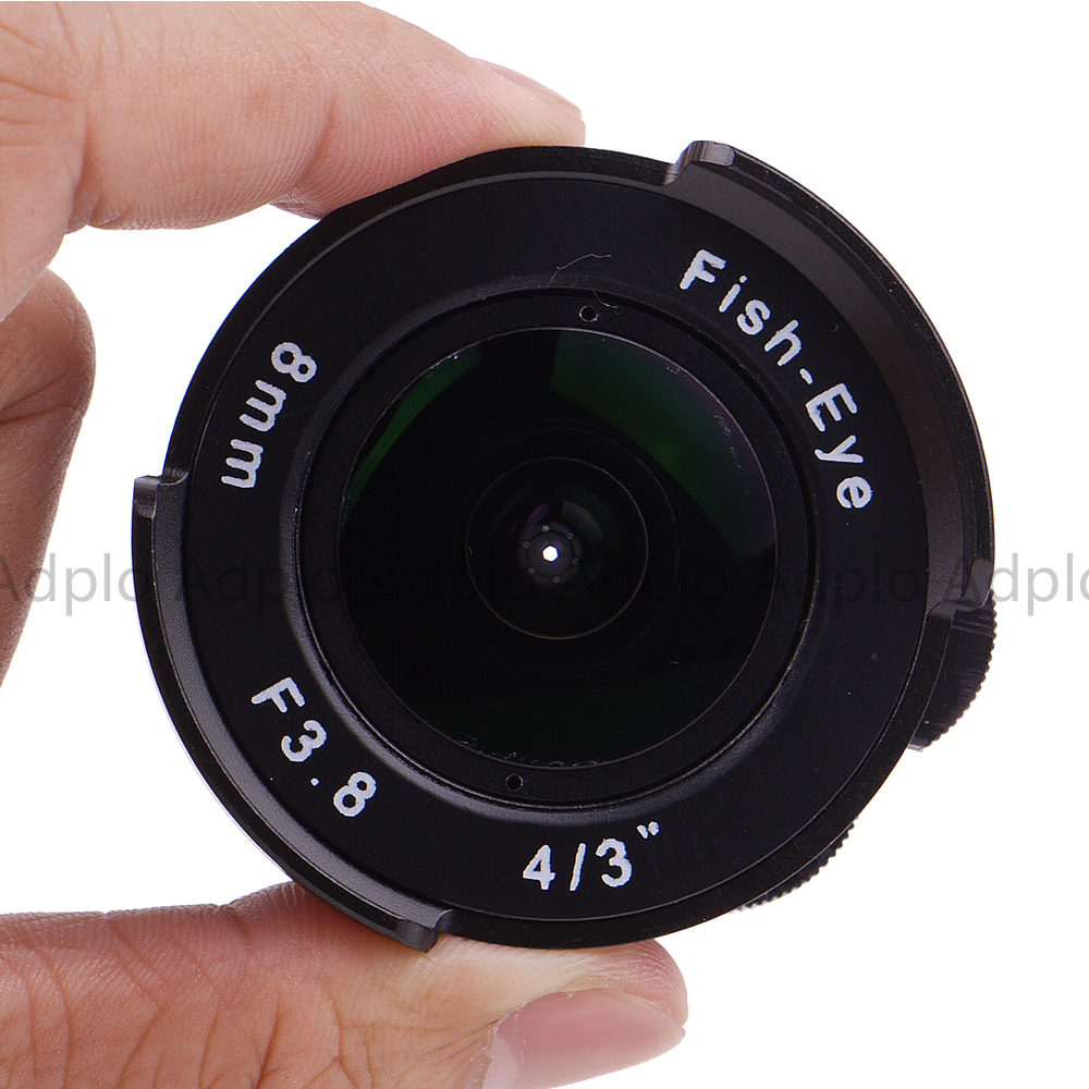 Fish eye Lens 8mm F3.8 For C Mount Camera + C to Micro M4/3 / NEX / N1 / Pentax Q /Fuji / M M2 Adapter Ring For DSLR Camera 5