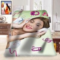 Custom Fashion Blanket Violetta Printed For 58 X 80 Inch Soft Fleece Blanket Comfortable Blanket Free
