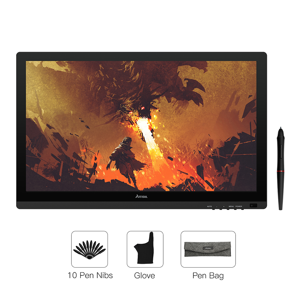 Artisul D22S tablette graphique avec écran 21.5 pouces stylo affichage électronique sans batterie numérique dessin tablette moniteur 8192 niveau