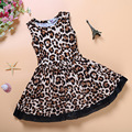Leopard Baby Girls Dress Kids Summer Fashion Clothing Childrens Dresses Little Girl Clothes D04X74