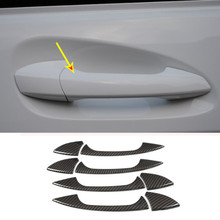 4 x Carbon Fiber ABS Chrome Car Door Handle Trim For Mercedes Benz GLK GL ML C Class W204 X204 Accessories