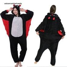 Bat Kigurum Onesies Unisex Adult Flannel Hooded Pajamas Children Cosplay Cartoon Cute Animal Sleepwear