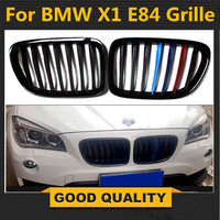 For BMW E84 X1 M Gloss Black M Color Kidney Sport Hood Grill SUV 2011 2015