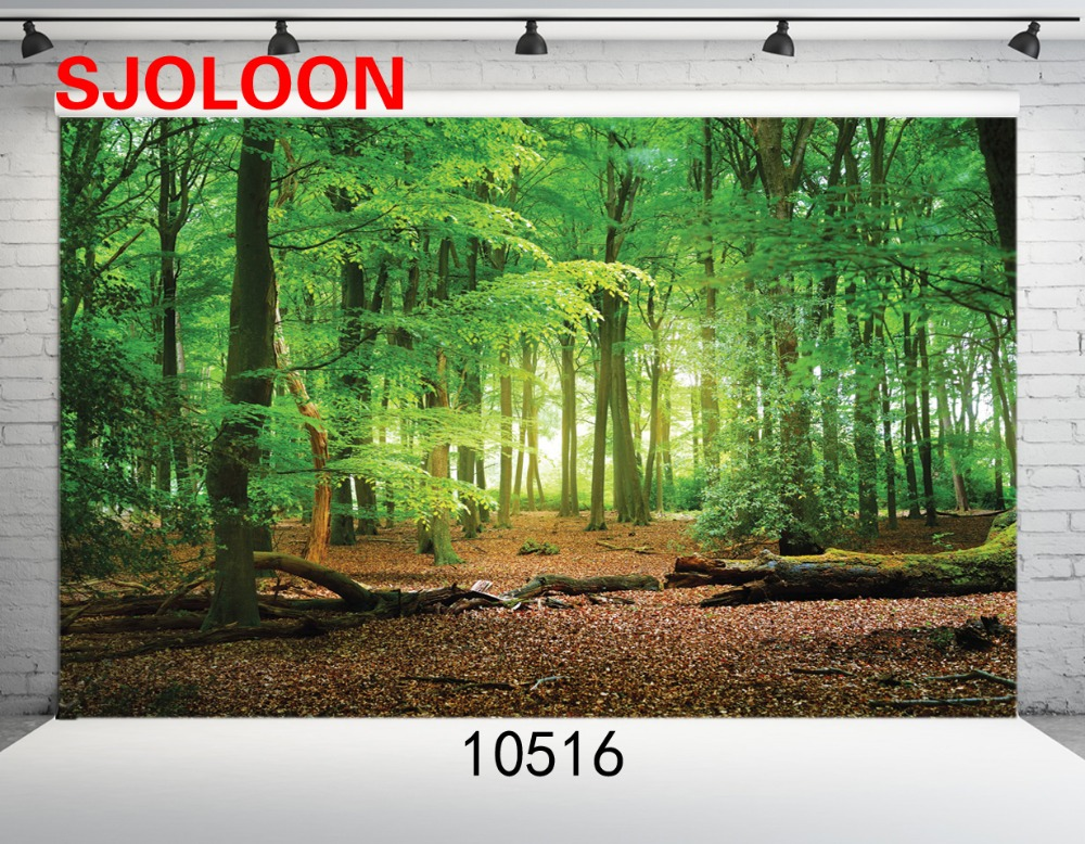 SJOLOON forest vinyl photography background summer photography backdrop lover photography backdrops fond photograph studio prop