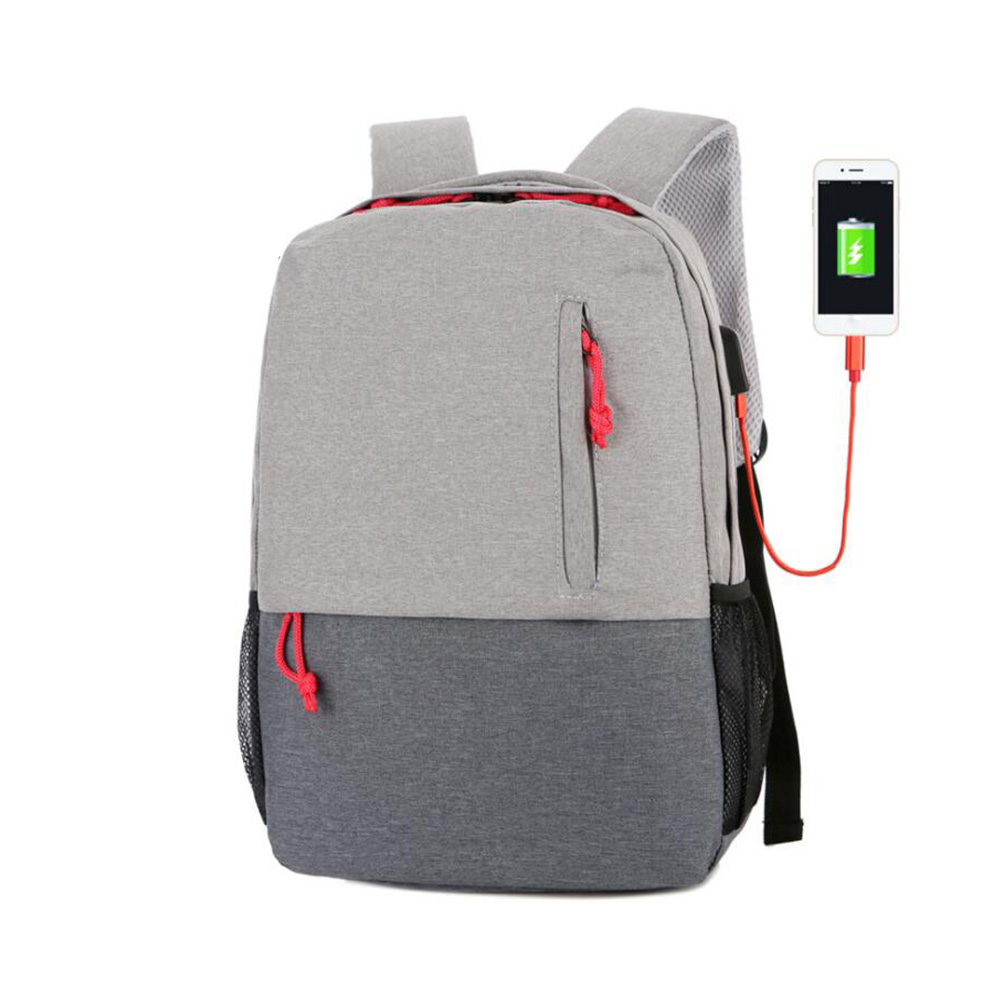Waterproof USB Charging Laptop Bag Notebook Bags Computer PC Backpack Unisex Travel Zipper Backpacks