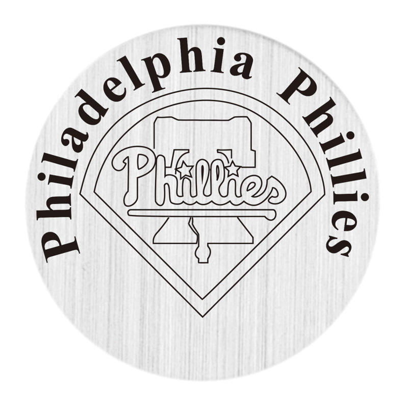 22mm Stainless Steel Philadelphia Phillies Locket Window Plate Floating Charms Fit 30mm Glass Living Lockets 20pcs/lot