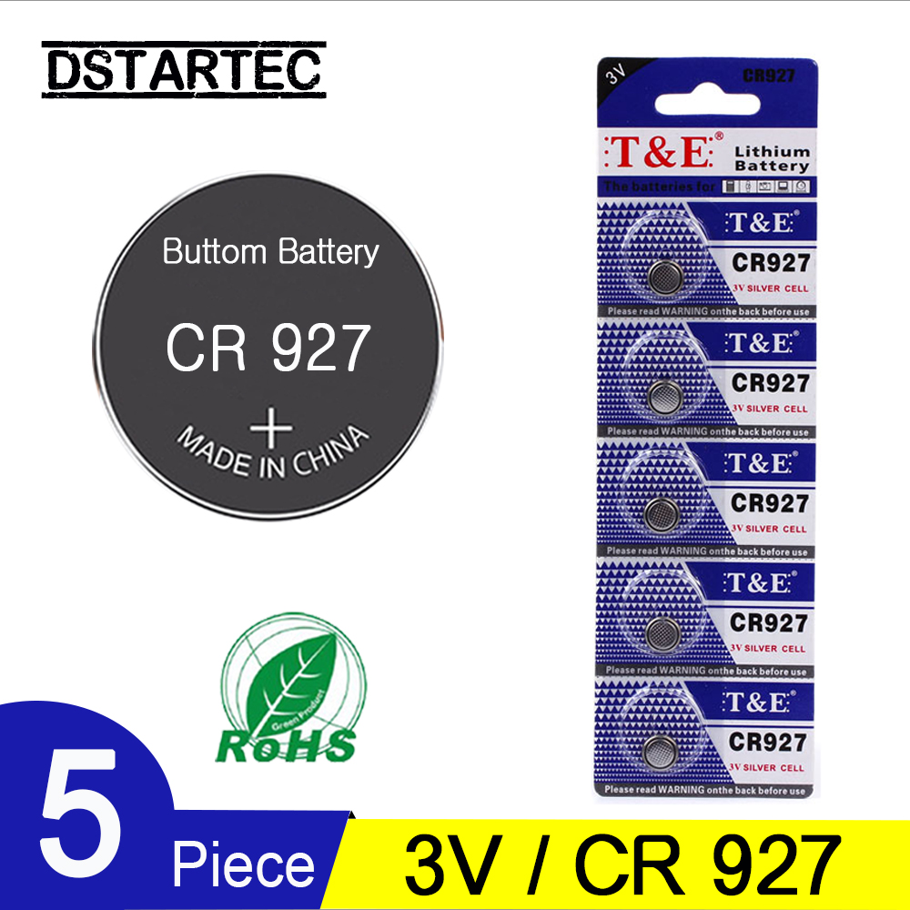 5PCS CR927 Lithium Button Battery BR927 ECR927 LM927 5011LC KCL927 DL927 CR 927 CR927-1W Coin Cell Batteries For Watch; 3V 30mAh