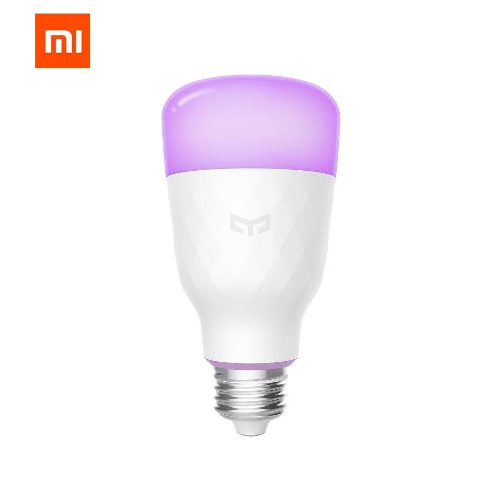 (Versión de actualización) original Xiao mi jia yeelight smart LED Bombilla colorida 800 lúmenes 10 W E27 limón bombilla inteligente para mi home App
