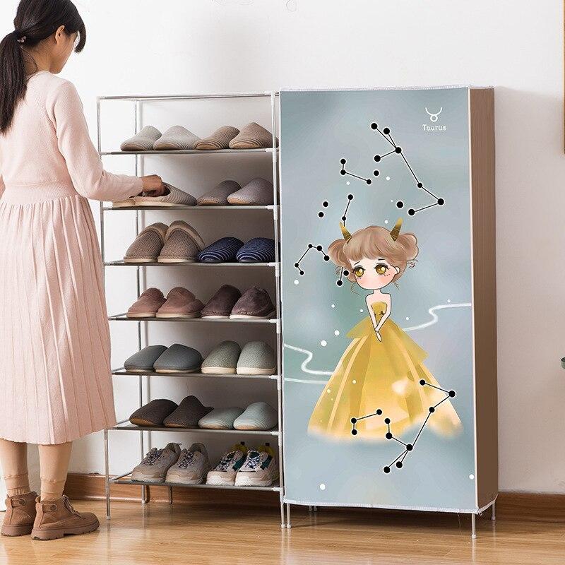 Twelve Constellations Design Multi-layer Shoe Cabinets