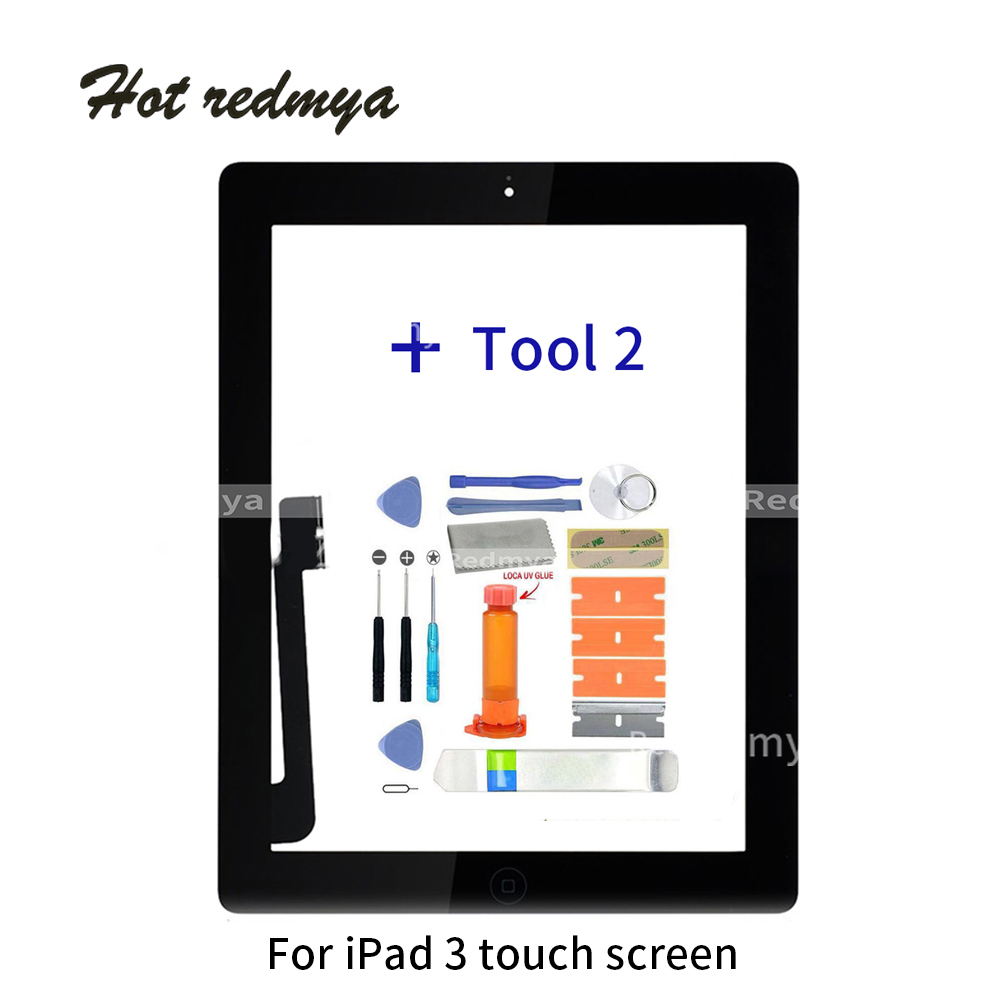 9 7 quot Touch Screen Digitizer Front Touch Panel Glass For iPad 3 TouchScreen Replacement Spare Part TP Home Button Repair Tools in Tablet LCDs amp Panels from Computer amp Office