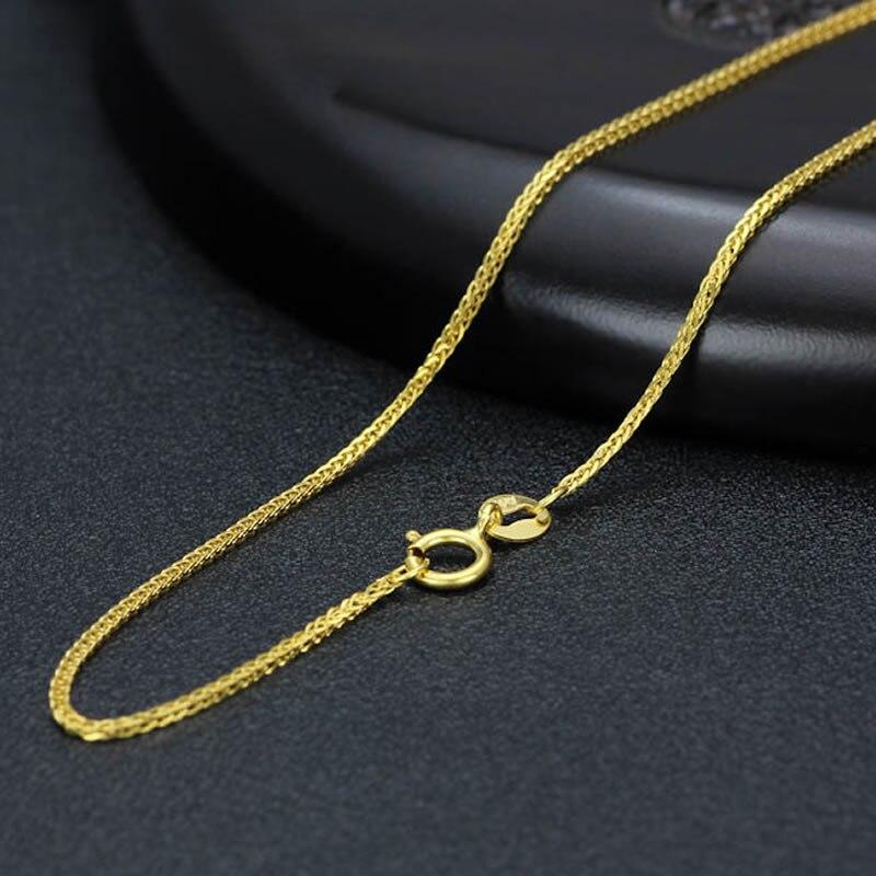 Reines gelb Gold Halskette Sehnte Große Weizen Gliederkette Halskette 1 pieces4 Farbe 1,5 2,1g A01-in Kette Halsketten aus Schmuck und Accessoires bei  Gruppe 1