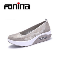 FONIRRA Women Flat Platform Shoes Woman Moccasin Zapatos Mujer Slip On For Ladies Shoes Casual Flats
