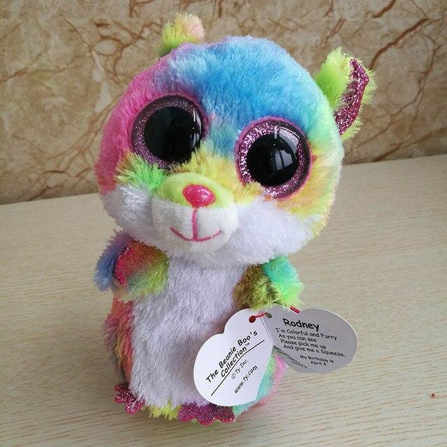 b49f96c945a 2018 Ty Beanie Boos Plush Toy 15cm 6inch Rodney Multicolor Hamster Stuffed  Animal Doll Kids Toy