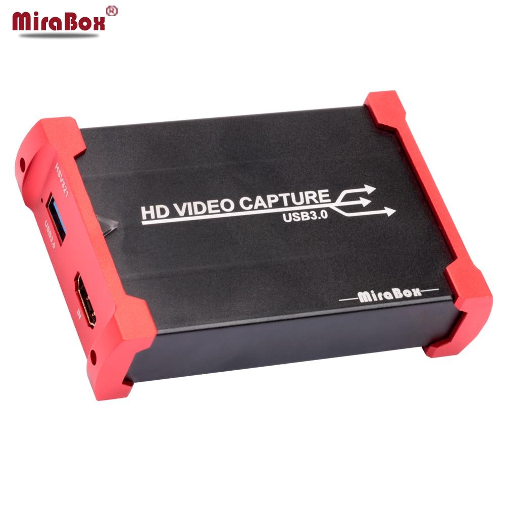 MiraBox HDMI Carte De Capture De Jeu pour Youtube En Direct Streaming USB 3.0 HD Vidéo Youtube Périphérique de Capture pour PS3 PS4 XBox 360