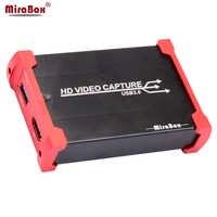Tarjeta de captura de juego MiraBox USB 3,0 HDMI para Youtube, transmisión en directo, dispositivo de tarjeta de captura de vídeo HD para PS3 PS4 XBox 360