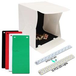 15.8 Inch Folding Light Photography Studio Softbox LED Light Soft Box Camera Photo Background Box Lighting Tent Kit