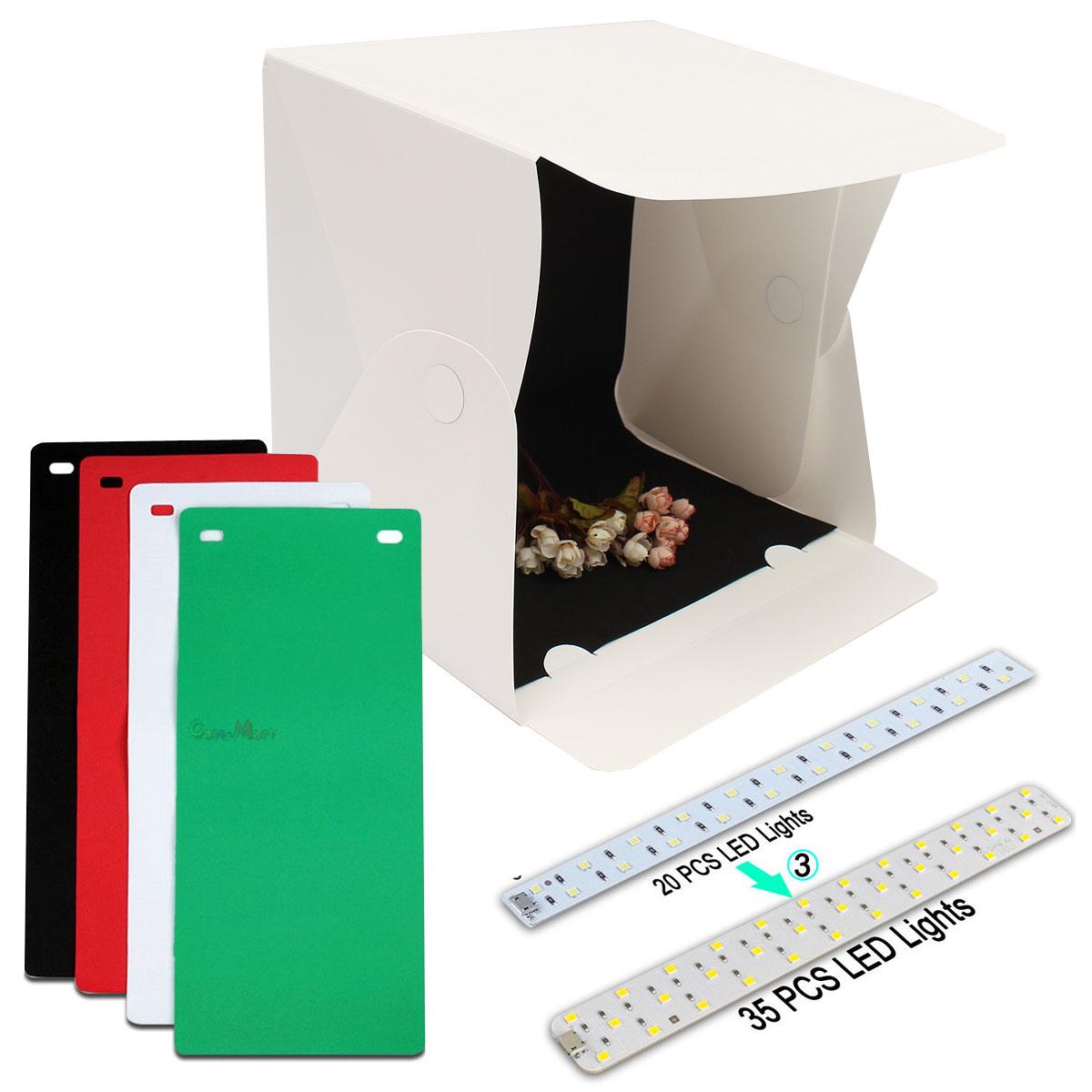 15.8 Polegada Dobrável Luz Fotografia Estúdio Softbox Luz LED Câmera De Caixa Suave Fundo Da Foto Caixa de Kit de Iluminação Tenda