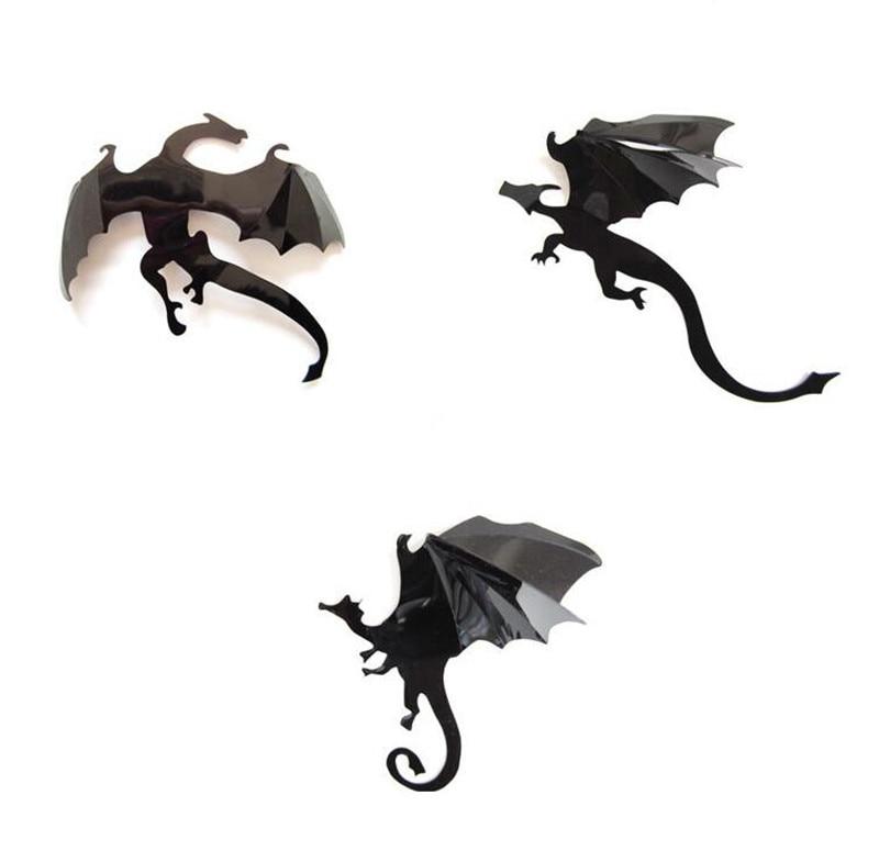 Game of Thrones 3D Dragon Wall Art DIY Wall Sticker Home Decor Room ...