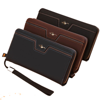 Kangaroo Brand 2016 New Long Wallet Design Pu Leather Bag New Fashion Cash Wallets Card Holder
