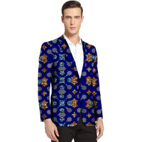 African clothes men's print blazers Ankara patterns slim fit suit jacket male blazers casual men outer coat Plus Size