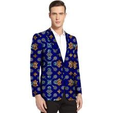 African clothes mens print blazers Ankara patterns slim fit suit jacket male casual men outer coat Plus Size