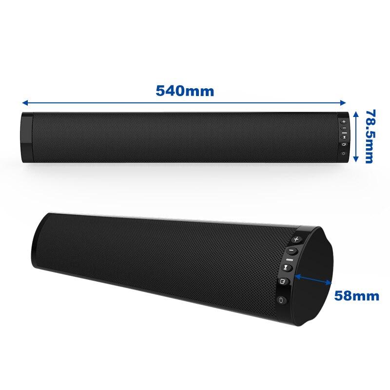 2019 haut-parleurs Audio de basse forte filaire et sans fil Bluetooth 5.0 barres de son pour TV Audio basse et HIFI Support de puce 3.5mm - 4
