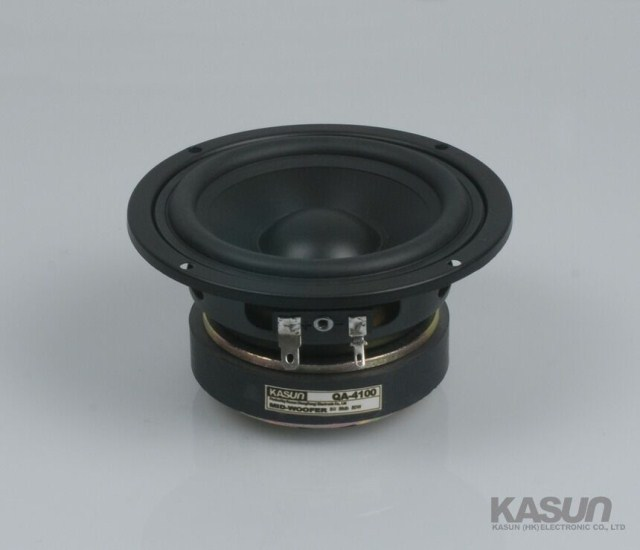 2PCS Kasun QA-4100 4 midrange speaker PP cone mid-woofer round frame power handle 80W2PCS Kasun QA-4100 4 midrange speaker PP cone mid-woofer round frame power handle 80W