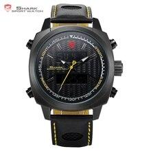 Silvertip Tiburón Relojes Deportivos Marca Negro Completo Digital Luz Fecha Alarma Cronógrafo de Cuarzo Correa de Cuero Relojes Para Hombre/SH494