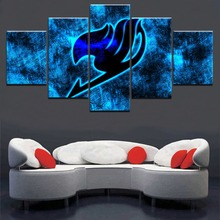 5 Panel Fairy Tail Logo Canvas Print Painting Wall Art Poster