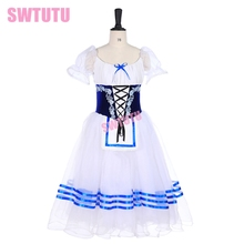giselle blue white peasant ballet costume tutu professional long ballerina romantic Napoli dress BT9238