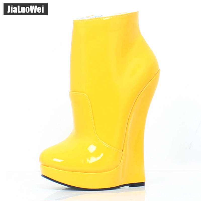 Jialuowei fétiche étalon cheval sabot semelle bottines avec Zip BDSM plate-forme piste Rock Star Night Club Goth Punk salut talon botte