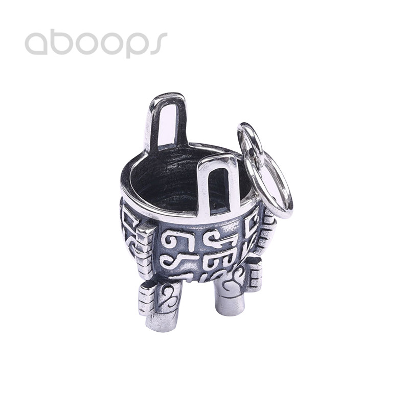 Classic 925 Sterling Silver Chinese Ancient 3 Legs Cauldron Pendant for Men Women Free Shipping centurion classic 1 classic 2 classic 3 remote control replacement free shipping