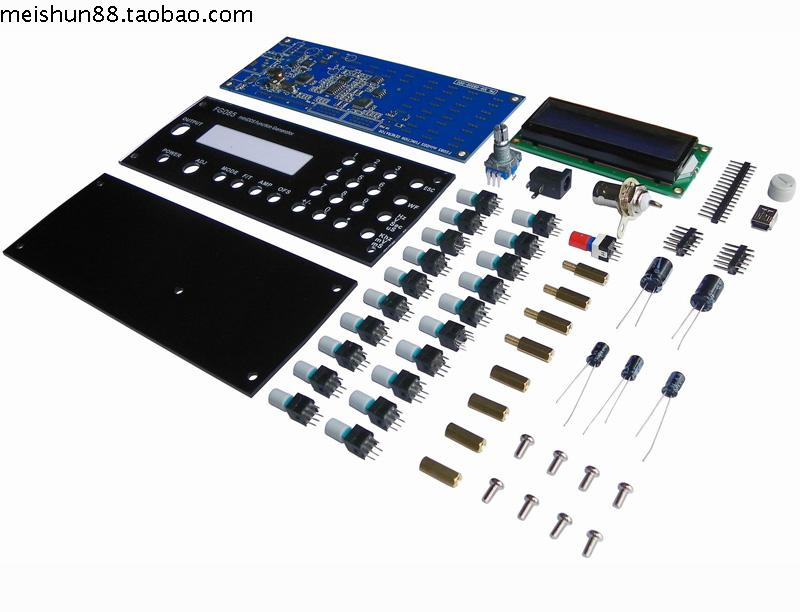 ФОТО FG085 Educational Electronic DIY Kit DDS Digital Synthesis Function Signal Waveform Generator Kit With Panel DSO085