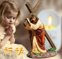 11*5*12cm resin Christian jewelry cross car church catholic wedding gift male mannequin bible home decoration Process 1pc A399