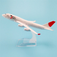 16cm Metal Alloy Plane Model Air YoKoSo Japan Airlines Boeing 747 B747 400 Airways Airplane Model w Stand Aircraft  Gift