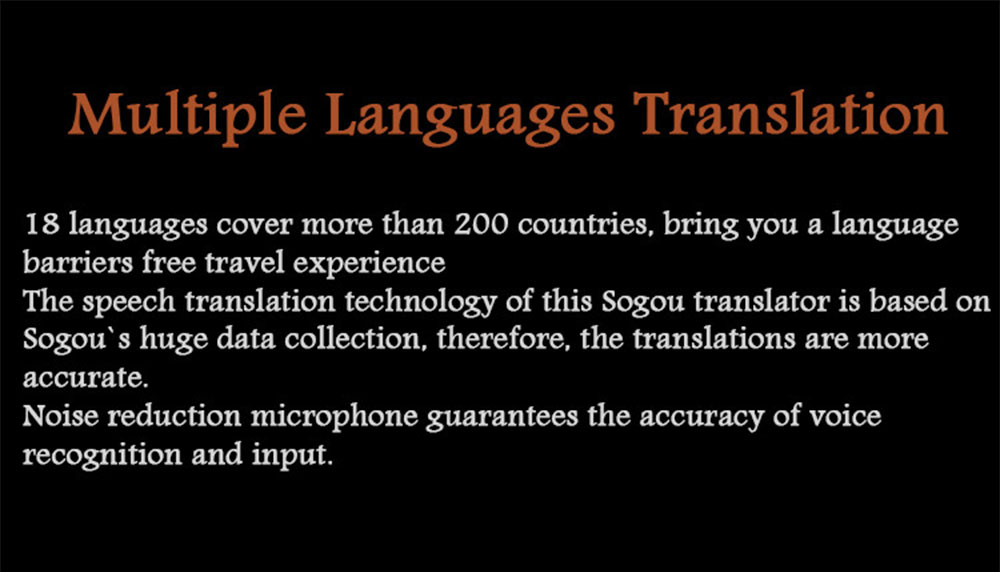 Pocket Language Translator Voice Languages Translation Spanish English French Russian Real-time Multi Instant Translator Device 12