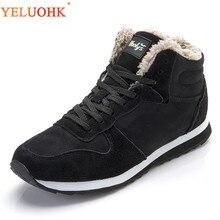 Мужские ботинки, большие размеры 38-48, зимняя обувь, мужские плюшевые теплые зимние ботинки, мужские черные, синие