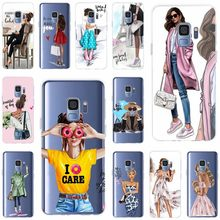 For Samsung Galaxy S6 S6edge A7 S7edge S8 S9 Plus A5 J5 J7 2016 Cover TPU Phone Case Queen Princess Girl Female boss coffee(China)