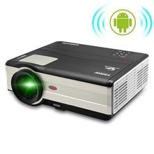 CAIWEI Nuevo Hd TV proyector Wifi 4000 lúmenes proyector de cine en casa Proyector Led Android para el Teléfono Móvil Del Ordenador Portátil de Vídeo Digital