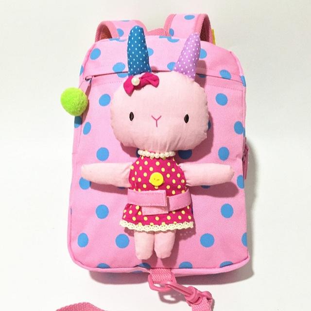 Crianças Anti perdidos coelho animais da lona Backpack criança crianças bonito boneca de pelúcia removível mochila brinquedo do presente do bebê mochila