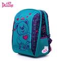 Mochila escolar para niños Delune de gran capacidad mochila escolar oso búho estampado ortopédico en relieve niñas mochila 3-5 estudiantes de clase