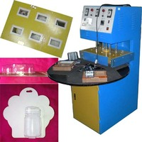 220V 50HZ Semi Automatic Plastic Blister Sealing Machine For Combining The Plastic And The Paper