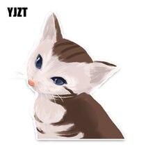 YJZT 11 CM * 14 CENTÍMETROS Animal Engraçado Gato PVC Estilo Do Carro Etiqueta Do Carro Decalque Do Carro Decoração 5-1328