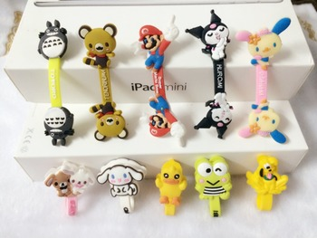200pcs/lot Hot Sale Cartoon Hero Headphone Earphone Cable Wire Organizer Cord Holder USB Charger Cable Winder For iphone samsung