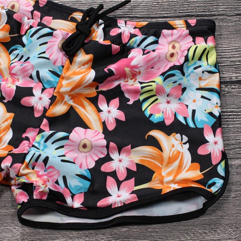 b1ce776167e0 2019 ocio deporte mujeres Bikini Underwaist de Top + Boxer corto Fondo  caliente verano traje de baño para mujeres Bathsuit mono XXL